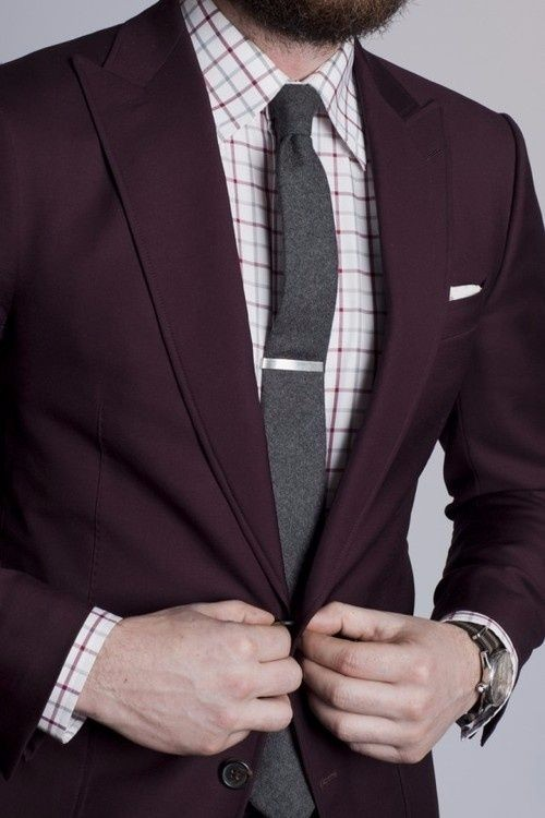 Burgundy Sports Jacket Photo Album - Fashion Trends and Models