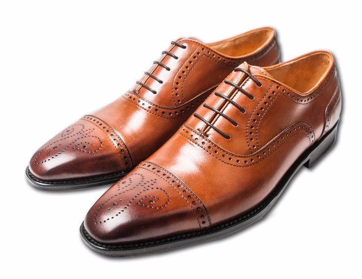 Cap Toe Brown Shoes Wedding